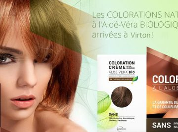 Coloration Naturelle à l'Aloé Véra Bio